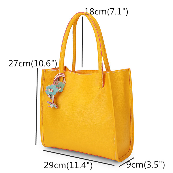 Size of Women Color PU Leather Bag
