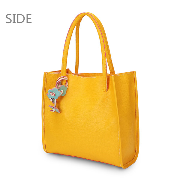 Side View Show of Women Color PU Leather Bag