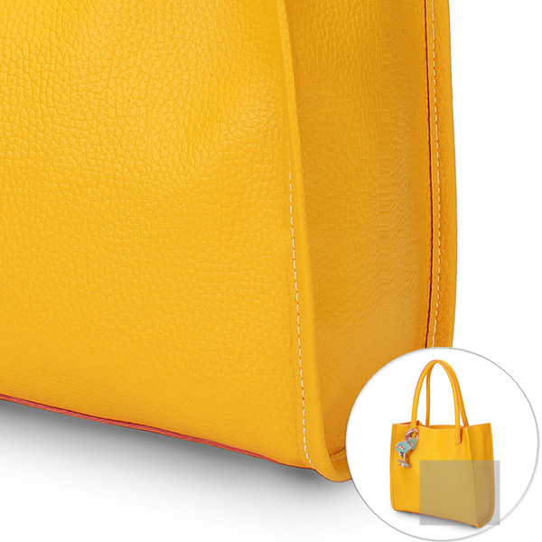 Detail of Women Color PU Leather Bag