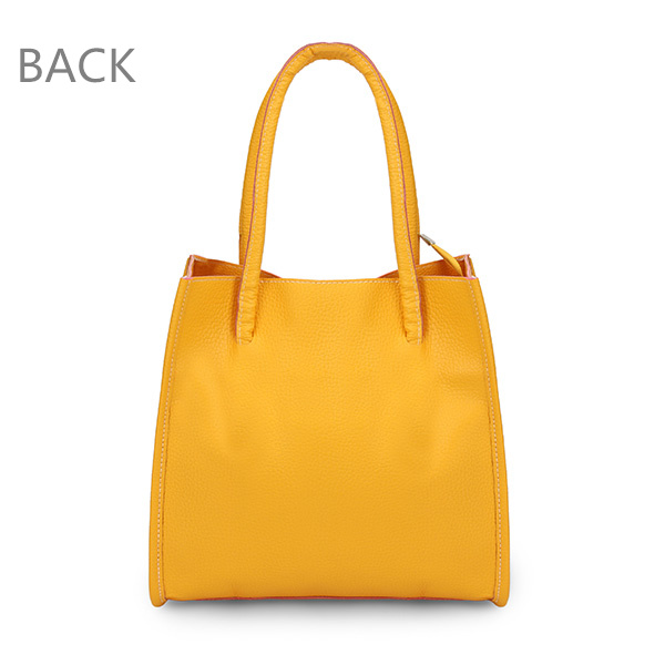 Back View Show of Women Color PU Leather Bag