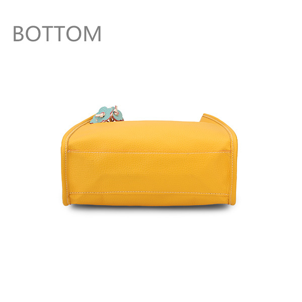 Bottom of Women Color PU Leather Bag