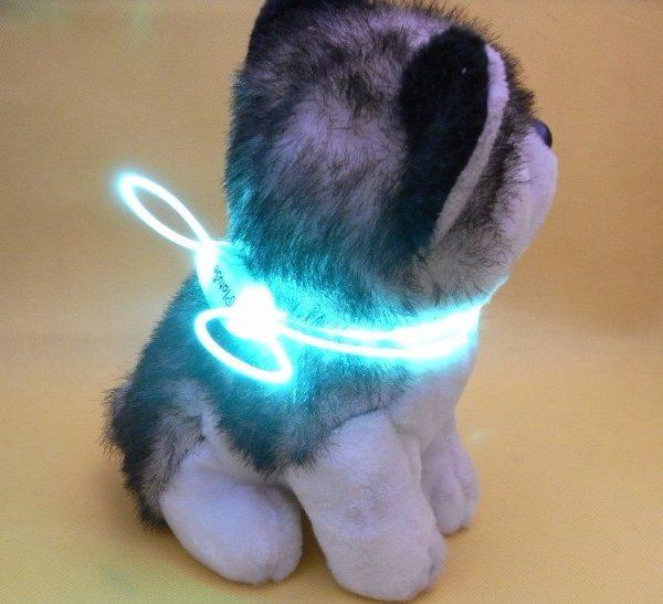 Kleurrijke en lichtgevende hondenhalsband (LED verlichting ...